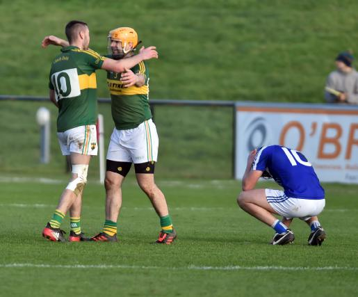 Cloughduv players Brian Ahern and Mark Verling celebrate last year.Picture: Eddie O'Hare