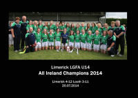 Limerick U14C: Munster, All Ireland Blitz & All Ireland Champions 2014