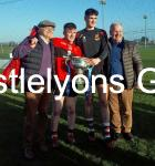 Niall O Leary & Jack Barry with their Dads after Fitzgibbon Cup Final
