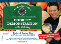 Get Your Tickets for the Cookery Demo 2014 - Tickets €10