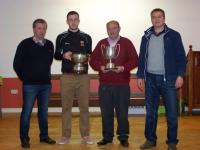 Dermot Saunders, Darren Coen, Ger McHugh & Noel Connelly pictured with the Senior League Division 1B cup