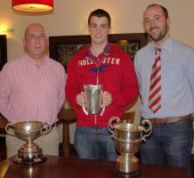 Presentation to David Harrington on his great football achievements