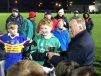 Captain Alex Lane Collects Cup