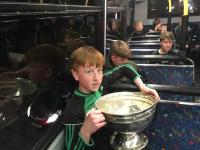 Oisin and Andy on the Bus