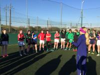 Irish Olympian Lizzie Lee trains the U16s