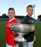 Aidan with the captain of Skibb ahead of our 1st Rd clash