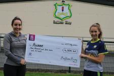 We presented Aware with a cheque following our community fundraiser