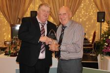Jack O'Brien receives an Appreciation Award at Gorey Distirict Awards