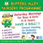 Nursery on Saturdays 9.45-10.45