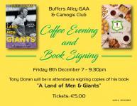 Coffee Evening & Tony Doran Book Launch