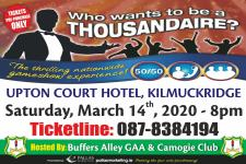 Thousandaire 14th March 2020