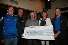 Lotto Winner Sean Barry Receiving His Cheque