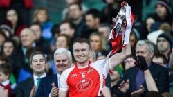 Captain Shane O' Donovan lifts the All-Ireland Cup