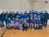 Girls U16&14s training with Dublin team