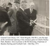 1971 Opening of Charlie Hurley Park