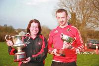 Marie & Owen with the silverware