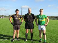 Goleen Captain, Mike Walsh Ref, Seamus Crowley Randal Og Captain
