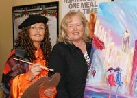 Dolores Bourke with Van Gough at Art Sale Promotion