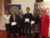 Winning Castlebar Student Tom McCarthy with two winning students