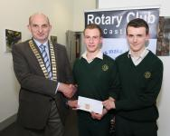 John O Donnell presents chq to Davitt College