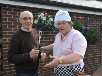 Peter Glynn & Celebrity Chef Tom Collins at Joe & Kathleen Mulroy's Sacred Heart Home Barbecue