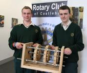 2nd Prize winners. Davitt college Lads with Multiple Generator