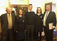 Sean Tobin with Winning Students & organisers