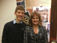 Tom McCarthy, Winner, St Gerald Student with Vivienne Kyne, Youth Chair