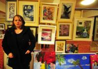 Painter displays her work at Art Expo