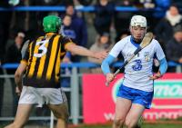 Waterford's Shane Bennett about to take a shot on the Kilkenny goal.