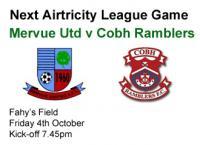 Next Game v Cobh Ramblers, Fri