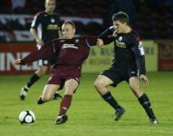 Gary Traynor in action