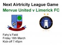 Mervue Utd v Limerick 16.03.12