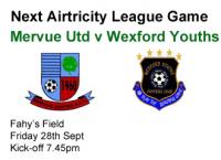 Mervue Utd 0-0 Wexford Youths, Friday