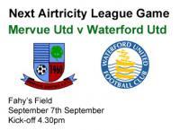 Next Game v Waterford Utd, Sat