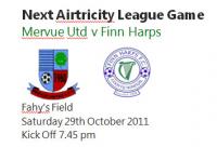 Next Home Game V Finn Harps