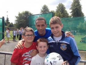 Colin, Jason & David with Rio Ferdinand