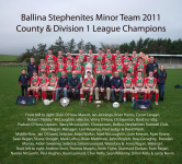 2011 Minor Team - County Champions & Division 1 League Winners