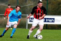 Richie Moore in action against Monaghan Cavan.