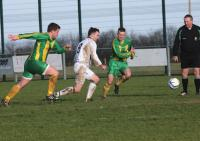Action from Bonagee United v Eany Celtic