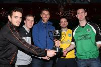 Jason Black presentes the Voodoo Venue Cup to the 4 semi-final captains