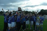The lads celebrating