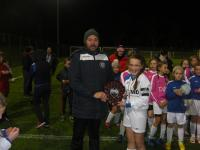 Amy Dunleavy Receives Mayo U12 Girls Shield from John Flanagan