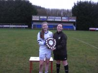 Melissa Devaney with the Shield