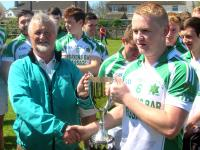 Passage Captain Ross McAuliffe winners U21 B Football Championship 2015.
