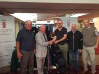 Veratcon Winners Golf Classic 18 receive prize from  Jack Hegarty