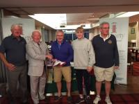 Roadstone receive 2nd prize from chairman Denis Bohane at Golf Classic 18