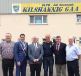 An Uachtarán CLG Aogán Ó Fearghail visiting our club grounds