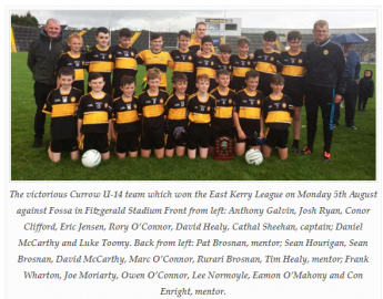 Currow U14 East Kerry League Winners 2019