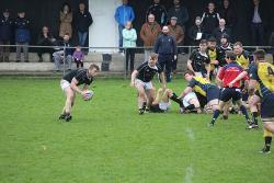 Derek Farrell gathers the ball